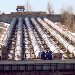 Penstocks and steel lining