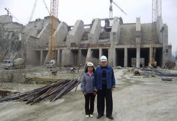 Designer's supervision during construction of Son La HPP. Vietnam