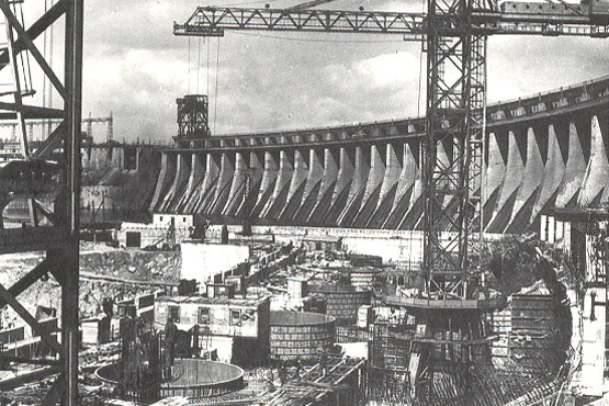 Construction of Dnepr HPP-II, Ukraine